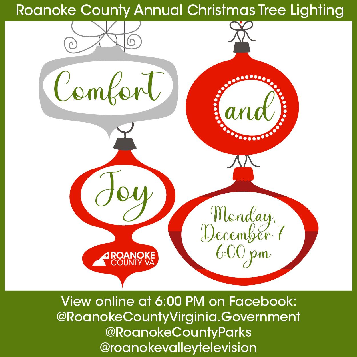 2020 Comfort and Joy Christmas Tree Lighting 300x300